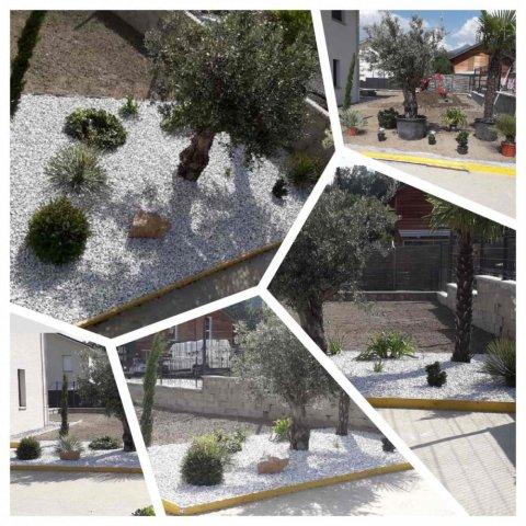 Création d'un jardin méditerranéen en bordure de piscine à Mercury