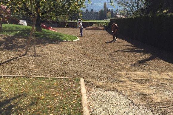 Cours, chemins et aménagements de terrasses Aiguebelle