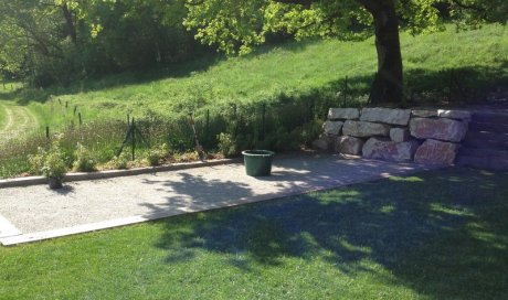 Cours, chemins et aménagements de terrasses Megève