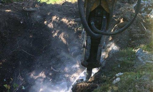 Megève brise roche hydraulique dans fosses de plantation Gilly-sur-Isère