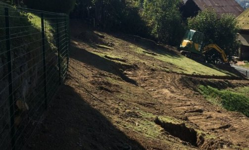 Megève ouverture fosses plantation Moutiers